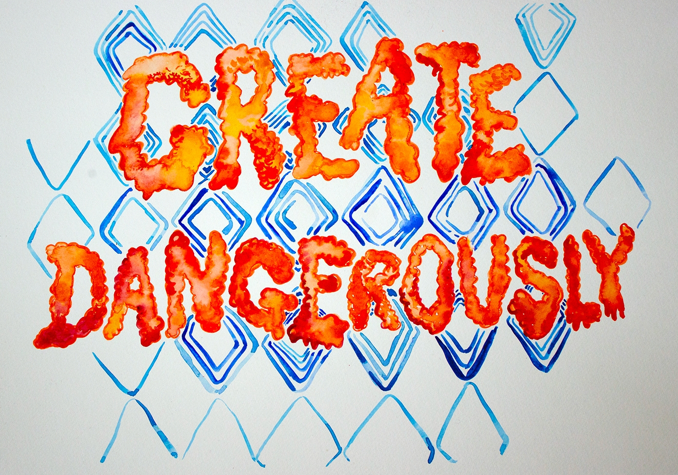 Conjuring rest for new infrastructure – create dangerously (watercolour series, 2021)