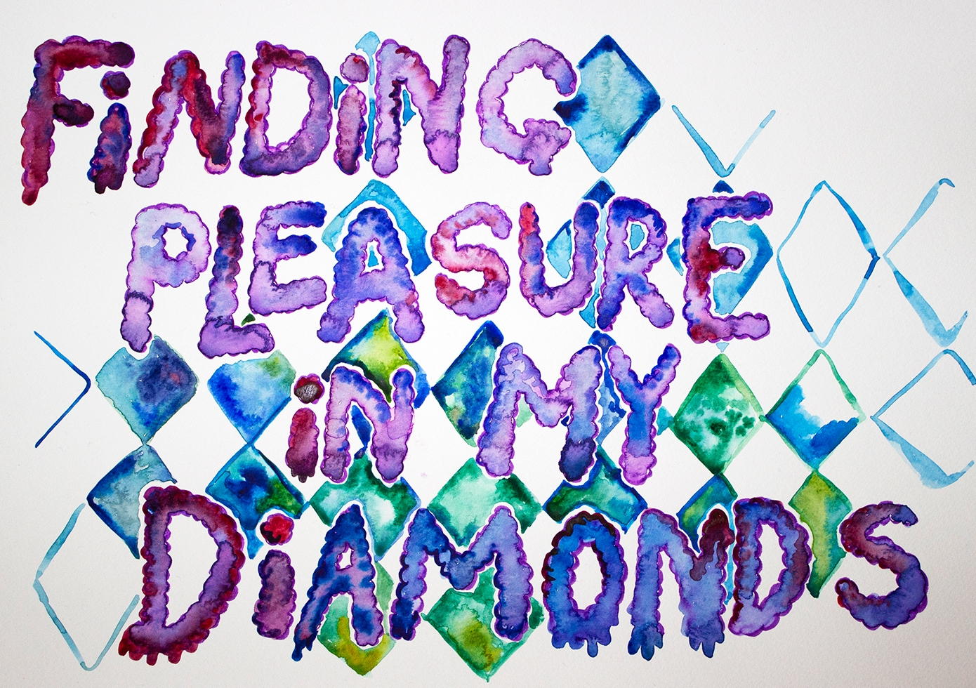 Conjuring rest for a new infrastructure – finding pleasure in my diamonds (watercolour series, 2021)