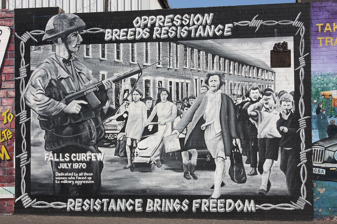 Falls Road mural, Belfast