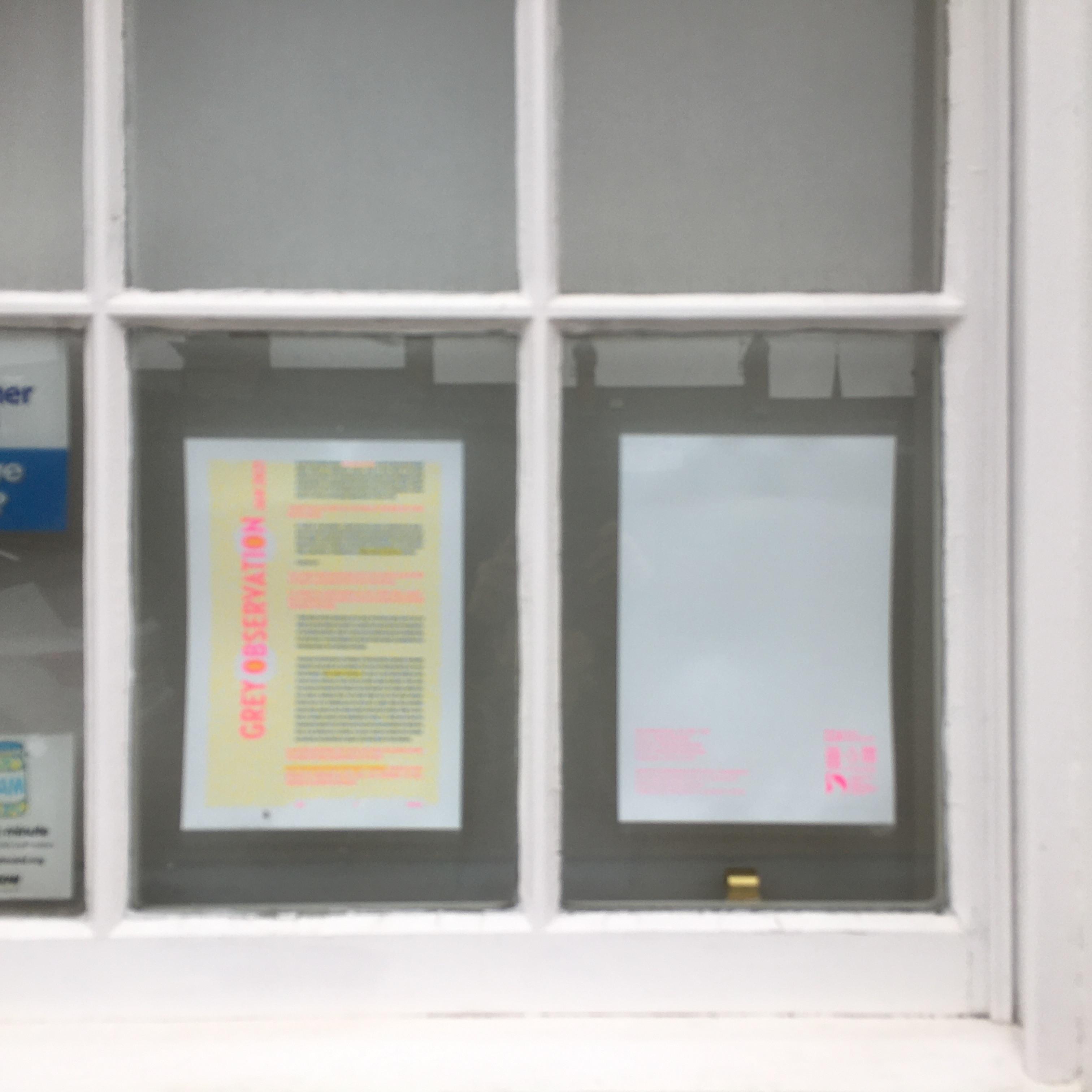 Grey Observation Window Text
