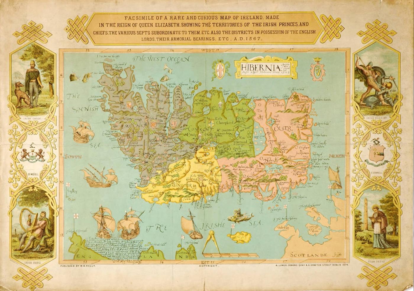 Hibernia insula non procul ab Anglia vulgare Hirlandia vocata 1567