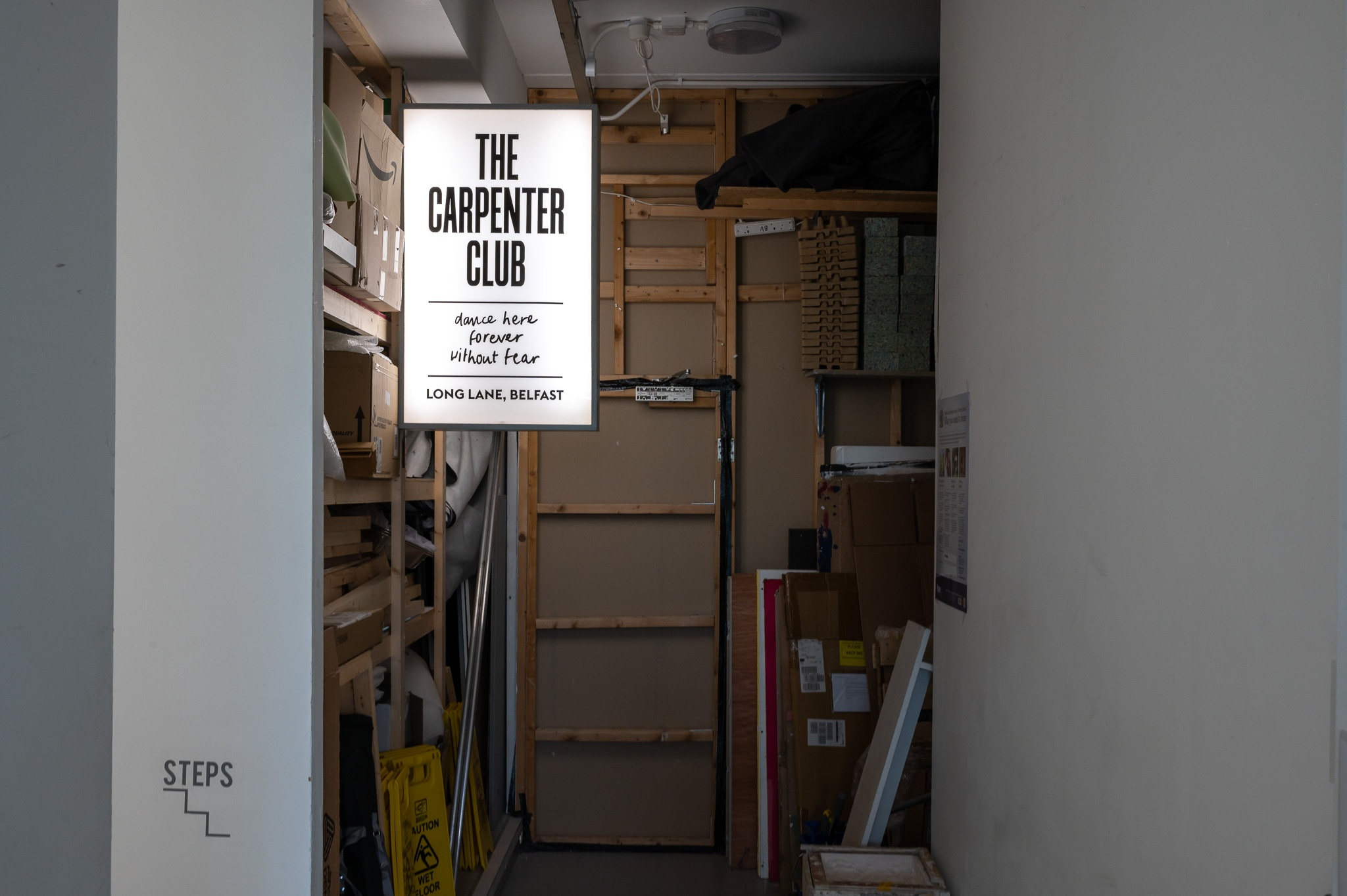 'Irish Modernisms' storage space shot of 'The Liberty Lad' (2021) by Phillip McCrilly