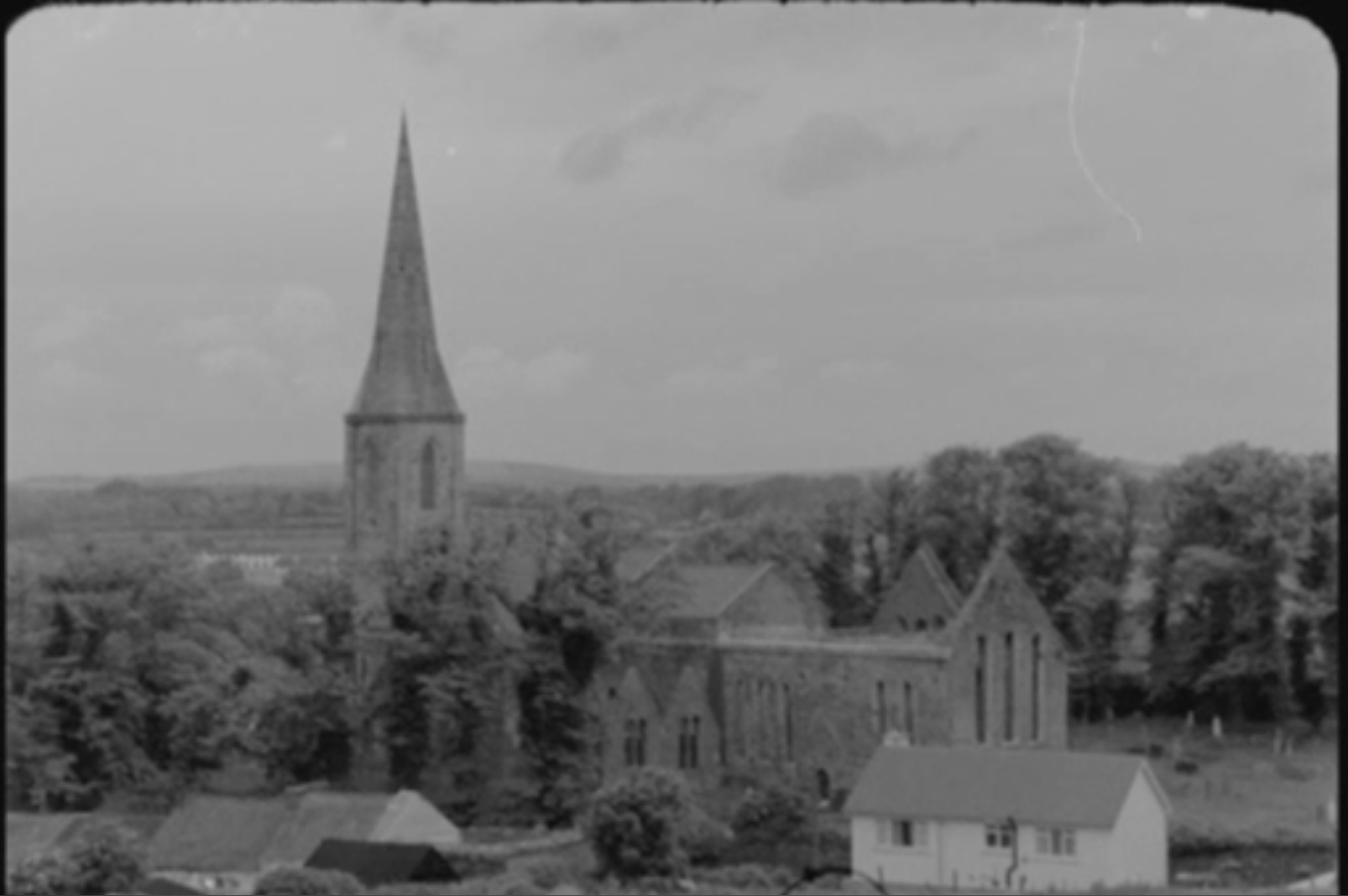 Still of English Planned Irish Towns film showing New Ross in County Wexford from RTÉ Archives (1969)