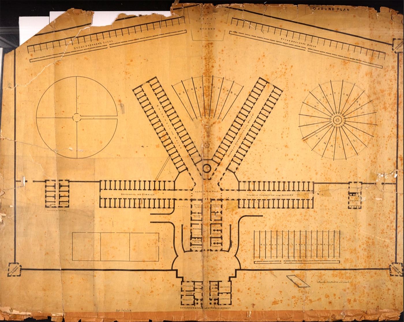Crumlin Road Prison/Belfast Gaol original plan (1842)