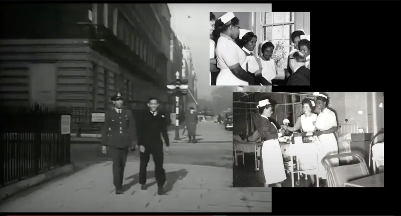 Film still of 'business as usual : hostile environment' by Alberta Whittle. Courtesy of the artist and Copperfield, London.