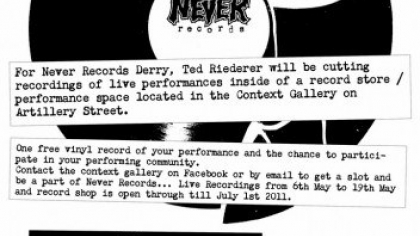 Ted Riederer, Never Records Derry