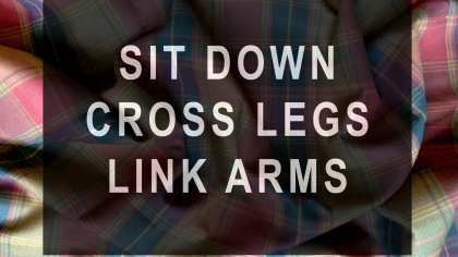 Tonya McMullan: Sit Down Cross Legs Link Arms