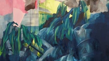 Aimee Melaugh: 'Bhopal' oil on canvas (2019)