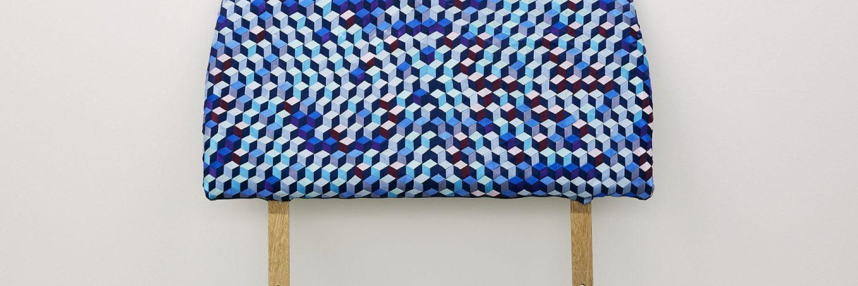 Grace McMurray 'Nest' (2018) Headboard Satin Ribbon weave Polycotton 92 x 92cm 2500pix