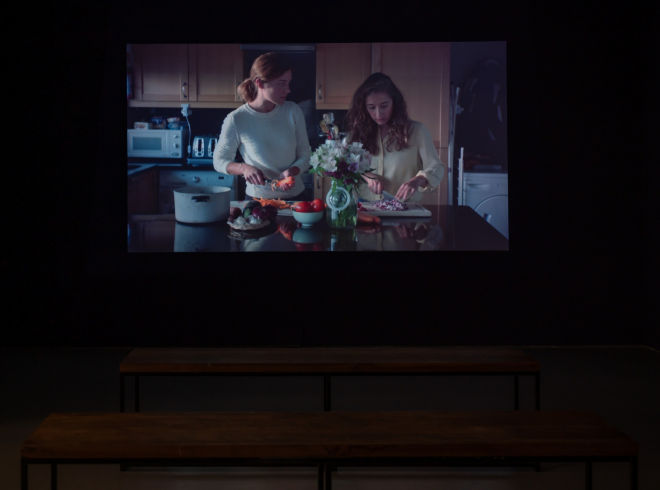 Gintė Regina, 'By Your Side' film in Gallery 3 at CCA Derry~Londonderry (2020)