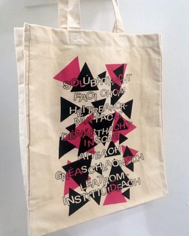 'Ach Ba Ghá Dom Labhairt Leat' printed tote bag – Emmet Brown