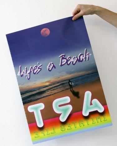 'Life's a Beach (Art Imitates Life)' poster – Jim Ricks