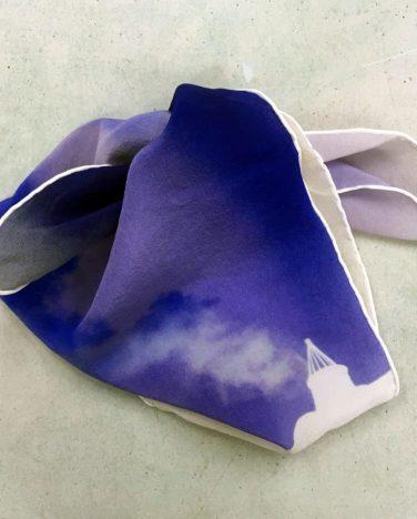 'Shadow Dial Studies IIv; West facing, Snow Light Reversals' silk scarf – Joan Alexander