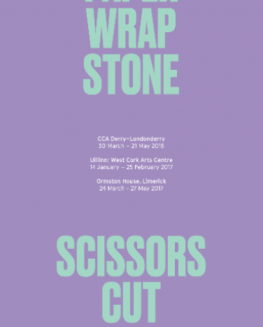 'Scissors Cut Paper Wrap Stone' touring poster