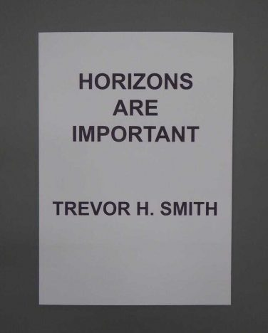 'Horizons Are Important'guest publication – Trevor H. Smith