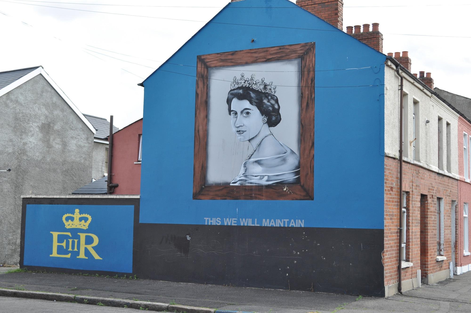 Mural on Rockview Street, Belfast. Painted 2007.
